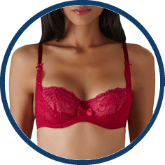 Aubade French sexy red bra
