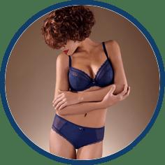 Chantelle blue bra