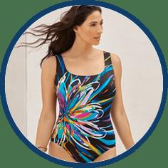 Longitude long torso swimwear
