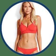 Seafolly red bikini mix and match