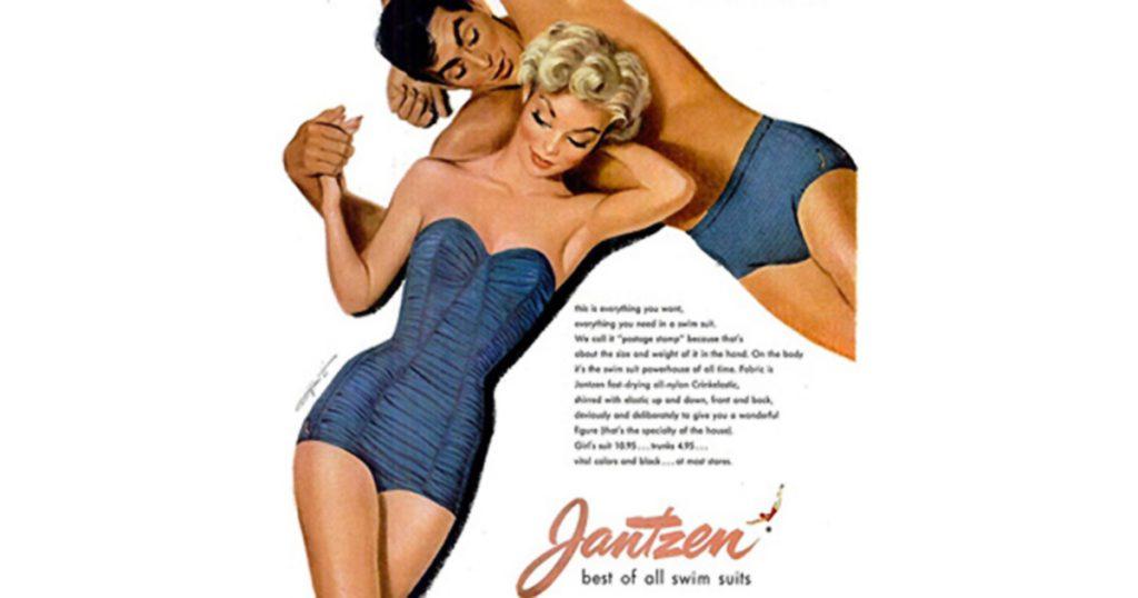 Jantzen bandeau bathing suit