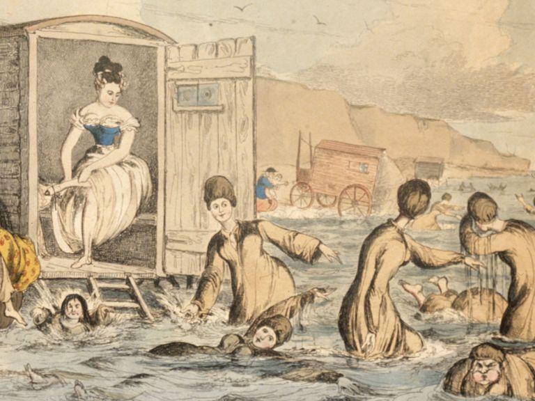 Swimwear history - the bathing machine