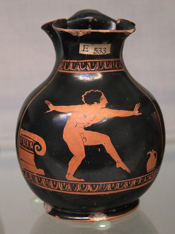 Boy dancing in ancient Greece
