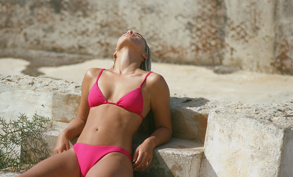 Eco-friendly hot pink bikini by VitaminA